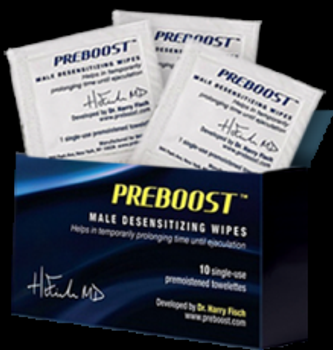 PREBOOST® helps in temporarily prolonging time until ejaculation.