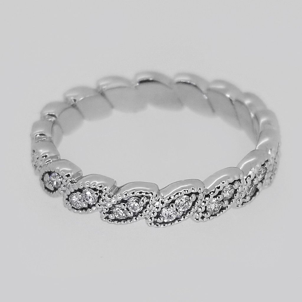 14KT White Gold Round Cut Diamond Stackable Band 0.40 ctw
