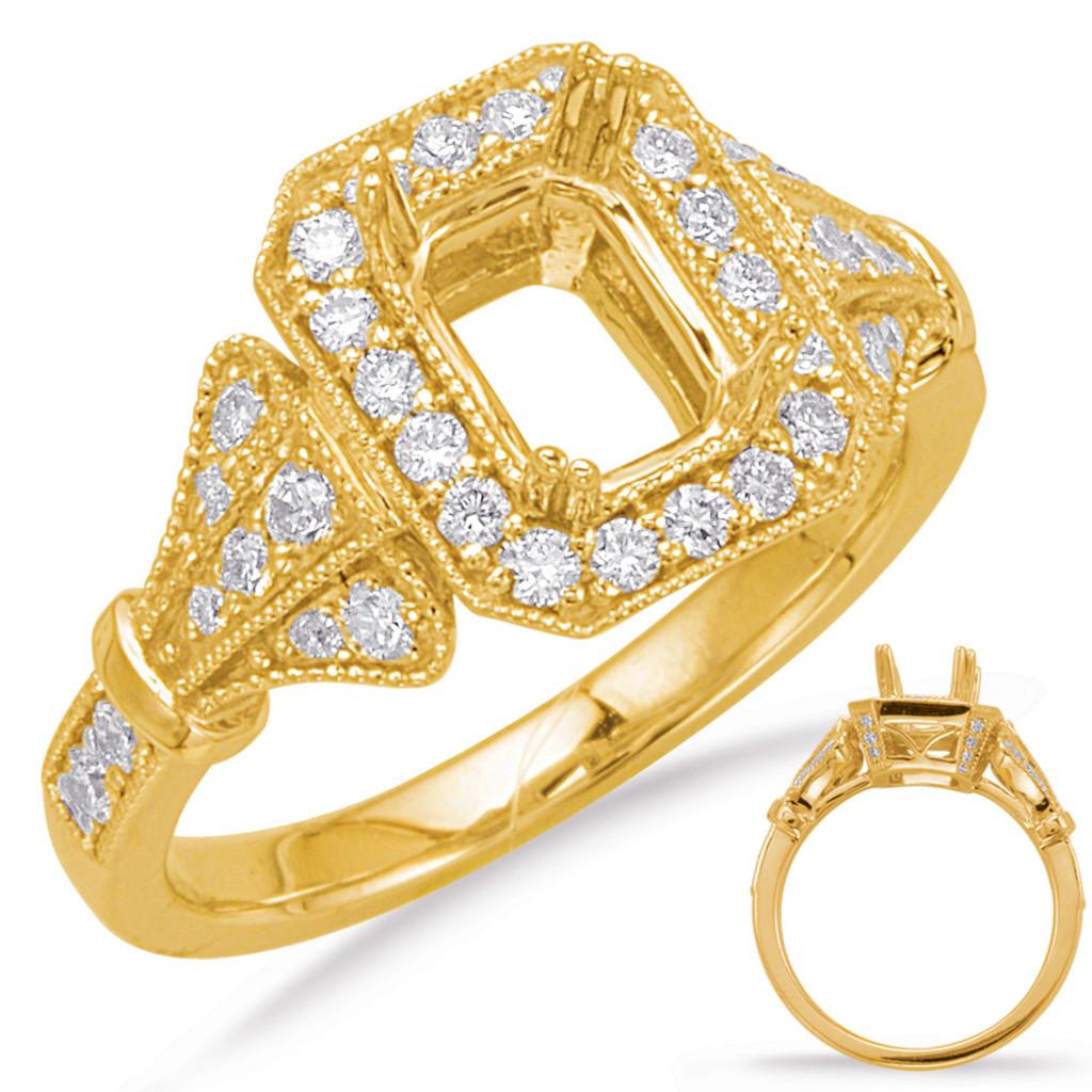 Diamond Engagement Ring  in 14K Yellow Gold    EN8069-7X5MYG