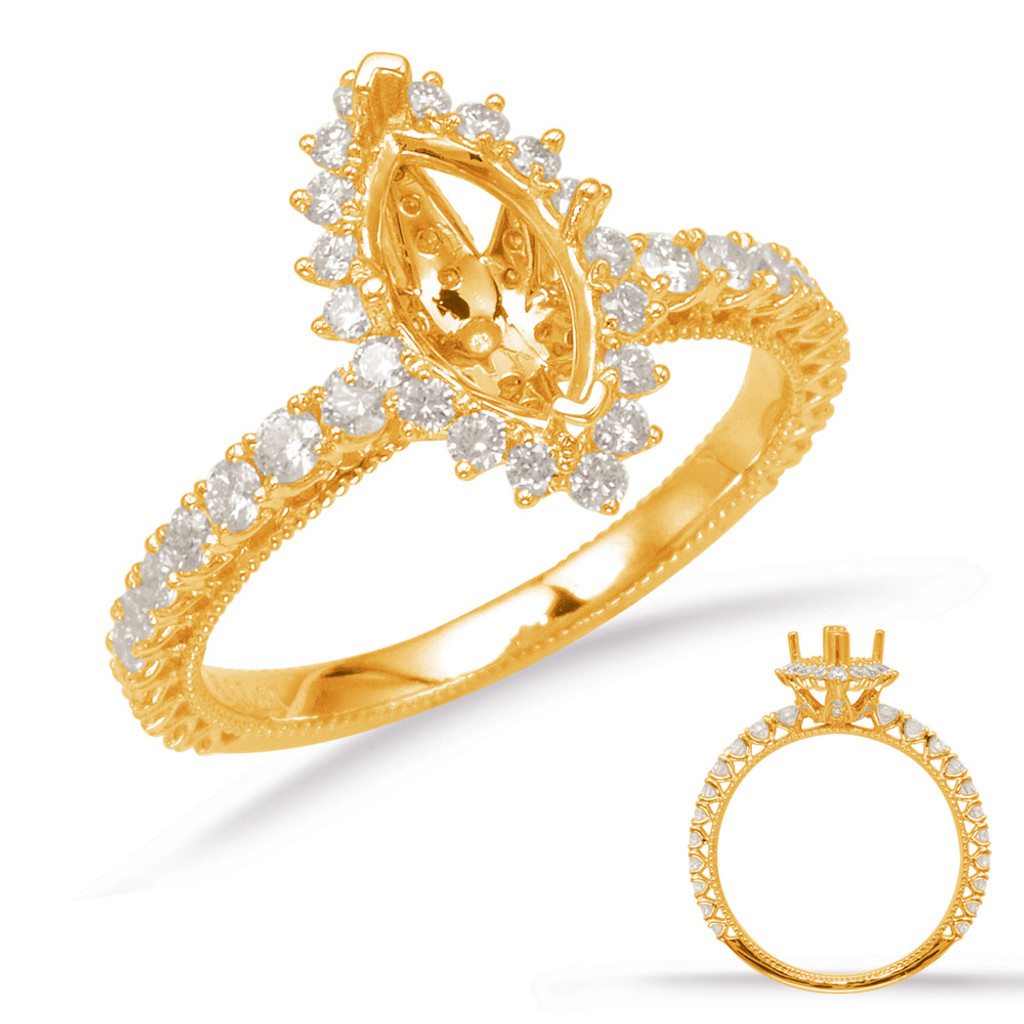 Diamond Engagement Ring  in 14K Yellow Gold    EN8094-6X3.5MYG