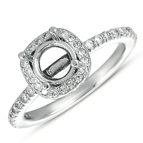 Diamond Engagement Ring halo  in 14K White Gold    EN7218-15WG