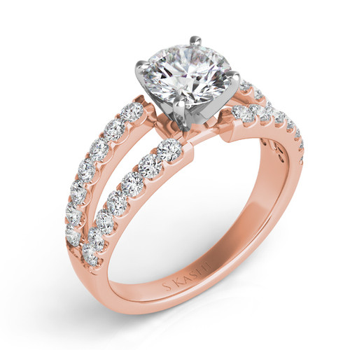 Diamond Engagement Ring  in 14K Rose Gold    EN7041RG
