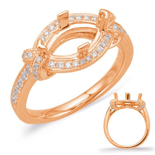 Diamond Engagement Ring  in 14K Rose Gold    EN8043-12X6MQRG
