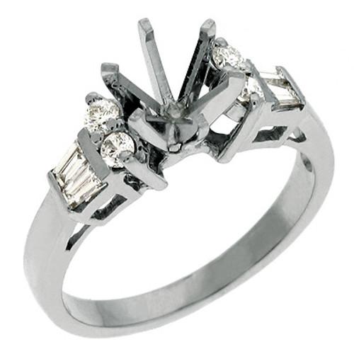 Diamond Engagement Ring  in 14K White Gold    EN1895WG