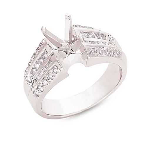 Diamond Engagement Ring  in 14K White Gold    EN6495WG