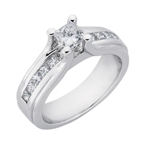 Diamond Engagement Ring  in 14K White Gold    EN6849WG