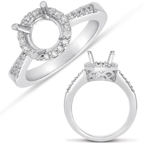 White Gold Halo Ring  in 14K White Gold   EN7504-7MWG