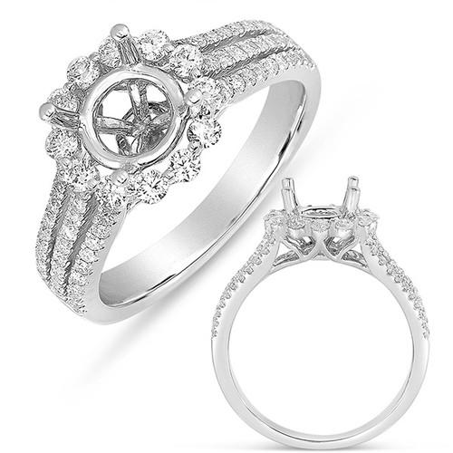White Gold Halo Ring  in 14K White Gold   EN7554-50WG