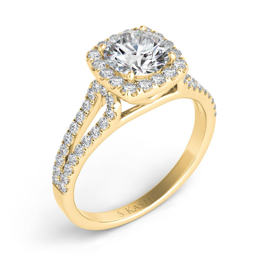 Diamond Engagement Ring  in 14K Yellow Gold    EN7369-25YG