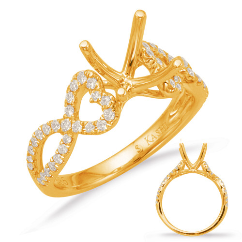 Diamond Engagement Ring  in 14K Yellow Gold    EN8005-50YG