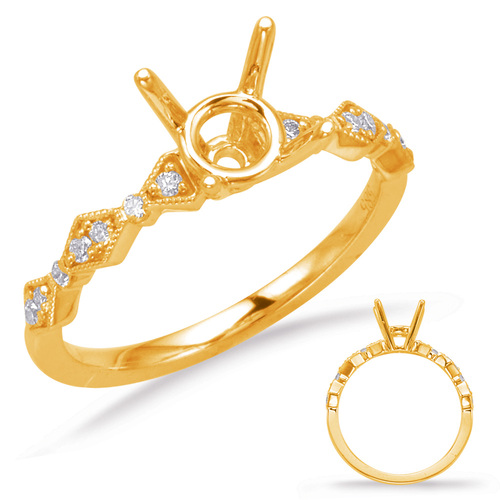Diamond Engagement Ring  in 14K Yellow Gold    EN8031-125YG
