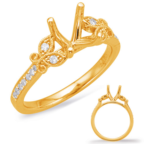 Diamond Engagement Ring  in 14K Yellow Gold    EN8032-33YG