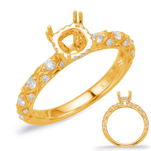 Diamond Engagement Ring  in 14K Yellow Gold    EN8033-1YG