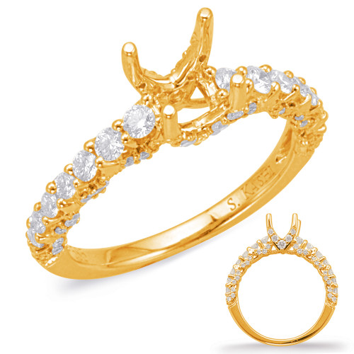 Diamond Engagement Ring  in 14K Yellow Gold    EN8034-50YG