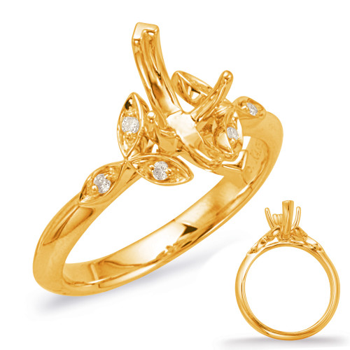 Diamond Engagement Ring  in 14K Yellow Gold    EN8042-10X5MQYG