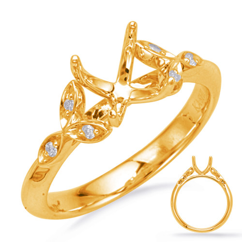 Diamond Engagement Ring  in 14K Yellow Gold    EN8042-8X6OVYG
