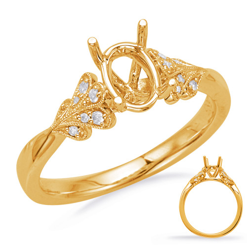 Diamond Engagement Ring  in 14K Yellow Gold    EN8051-6X4OVYG