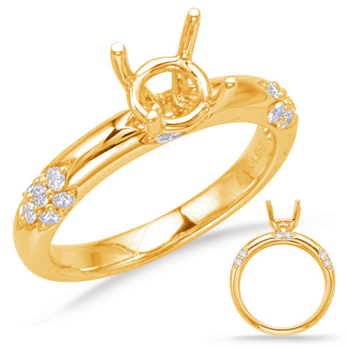 Diamond Engagement Ring  in 14K Yellow Gold    EN8052-75YG