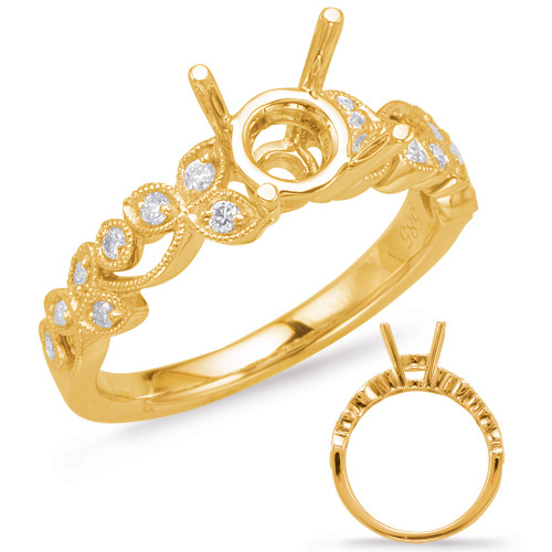 Diamond Engagement Ring  in 14K Yellow Gold    EN8061-1YG