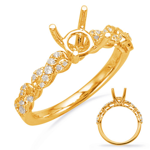 Diamond Engagement Ring  in 14K Yellow Gold    EN8107-75YG
