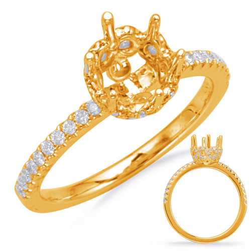 Diamond Engagement Ring  in 14K Yellow Gold    EN8119-1YG