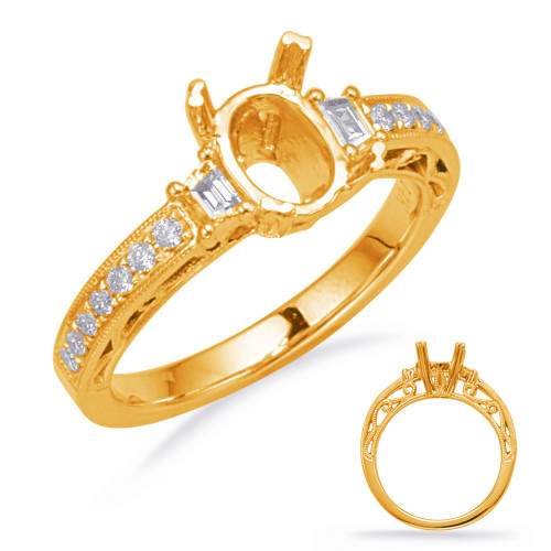 Diamond Engagement Ring  in 14K Yellow Gold    EN8135-7X5MYG