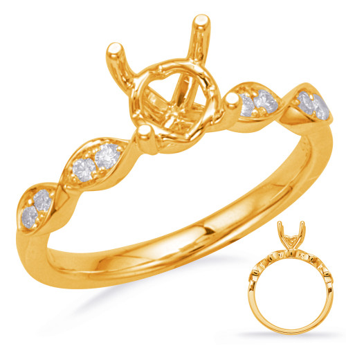 Diamond Engagement Ring  in 14K Yellow Gold    EN8157-1YG
