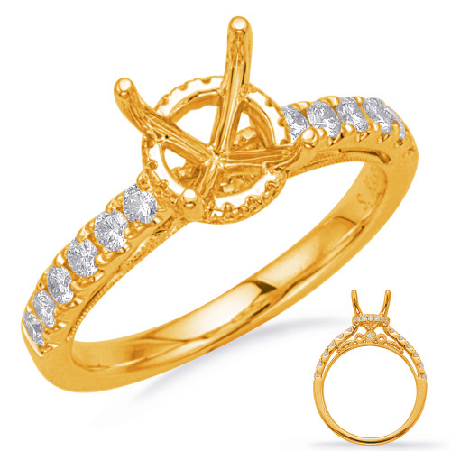 Diamond Engagement Ring  in 14K Yellow Gold    EN8164-125YG
