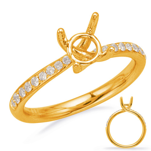 Diamond Engagement Ring  in 14K Yellow Gold    EN8177-75YG