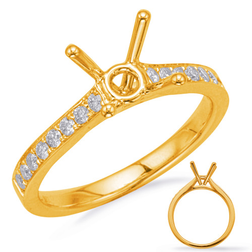 Diamond Engagement Ring  in 14K Yellow Gold    EN8178-50YG