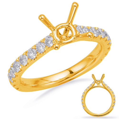 Diamond Engagement Ring  in 14K Yellow Gold    EN8180-1YG