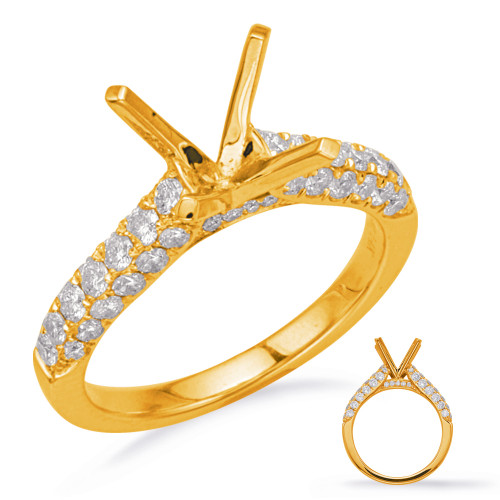 Diamond Engagement Ring  in 14K Yellow Gold    EN8189-1YG