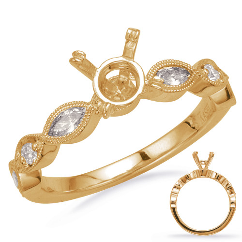 Diamond Engagement Ring  in 14K Yellow Gold    EN8198-1YG