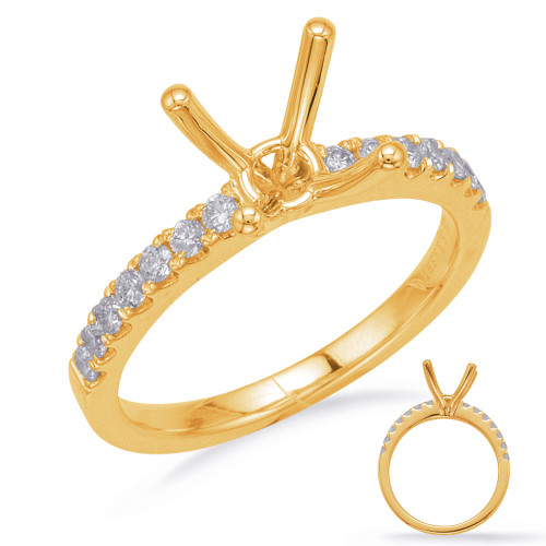 Diamond Engagement Ring  in 14K Yellow Gold    EN8201-75YG