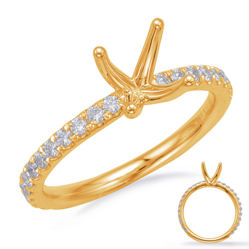 Diamond Engagement Ring  in 14K Yellow Gold    EN8202-1YG