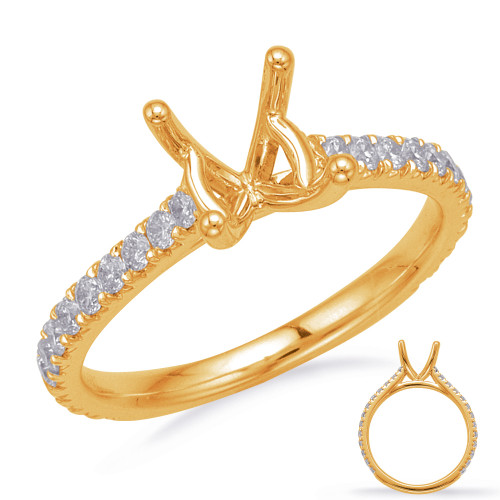 Diamond Engagement Ring  in 14K Yellow Gold    EN8203-1YG