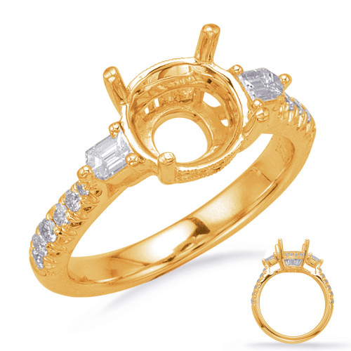 Diamond Engagement Ring  in 14K Yellow Gold    EN8213-2RDYG