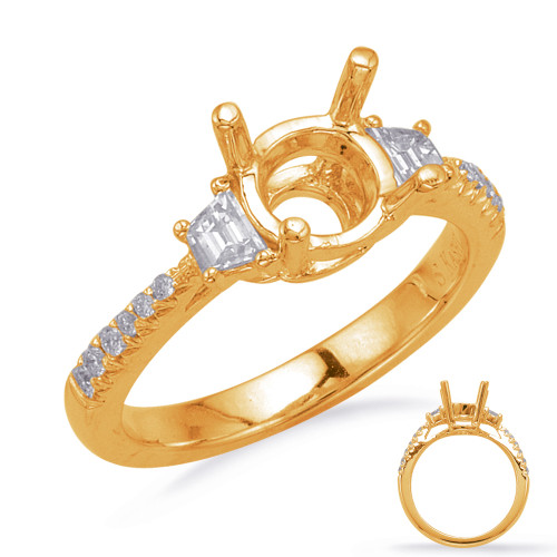 Diamond Engagement Ring  in 14K Yellow Gold    EN8215-1RDYG
