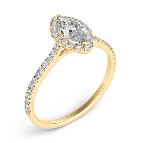 Diamond Engagement Ring  in 14K Yellow Gold    EN7599-9X4.5MYG