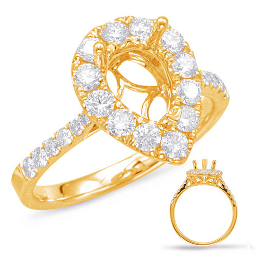 Diamond Engagement Ring  in 14K Yellow Gold    EN7873-8X6MYG