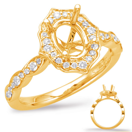 Diamond Engagement Ring  in 14K Yellow Gold    EN7948-7X5MYG