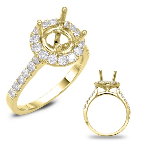 Diamond Engagement Ring  in 14K Yellow Gold    EN7694-2YG