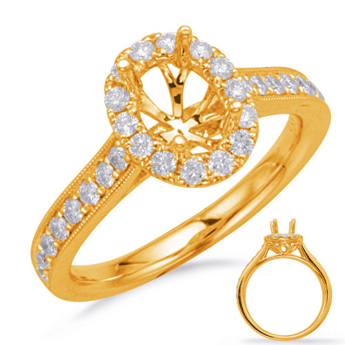Diamond Engagement Ring  in 14K Yellow Gold    EN7745-7X5OVYG