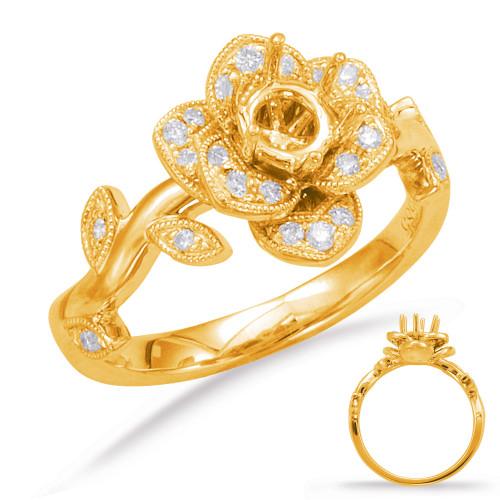Diamond Engagement Ring  in 14K Yellow Gold    EN7818-1YG