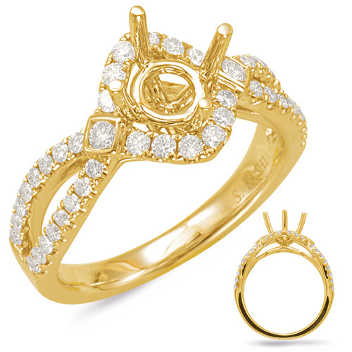 Diamond Engagement Ring  in 14K Yellow Gold    EN7838-125YG