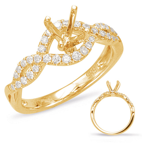 Diamond Engagement Ring  in 14K Yellow Gold    EN7869-75YG