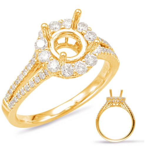 Diamond Engagement Ring  in 14K Yellow Gold    EN7885-1YG