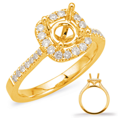 Diamond Engagement Ring  in 14K Yellow Gold    EN7939-25YG