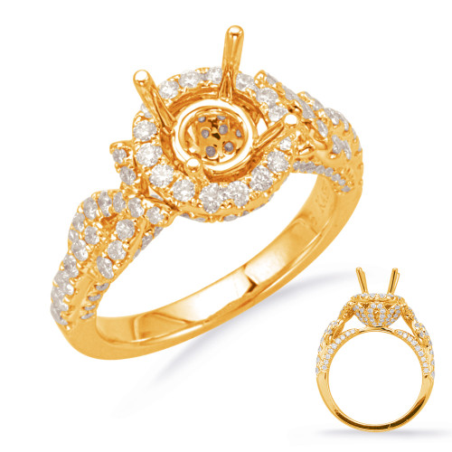 Diamond Engagement Ring  in 14K Yellow Gold    EN8007-1YG