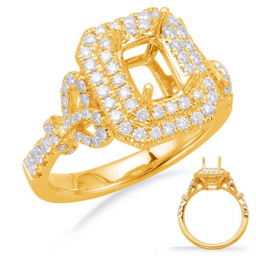 Diamond Engagement Ring  in 14K Yellow Gold    EN8014-6X4MYG